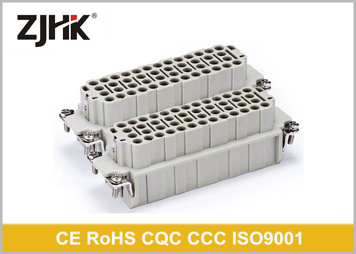 Male Female 92 Pin Industrial Rectangular Connectors , IP65 Multi Pin Connector