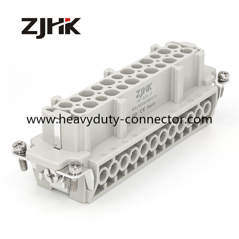 24 Pin Heavy Duty Multi Pin Connectors Female Insert Hot Runner Connector