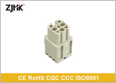 HD Series 8 Pole Heavy Duty Multi Pin Connector Crimp Termination For Wind Power