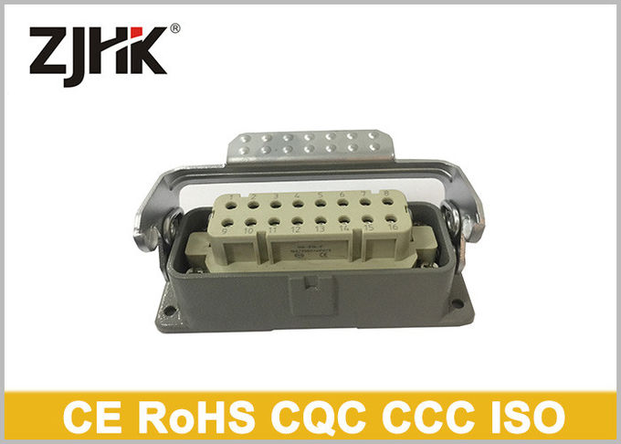 H16A - BK - 1L Heavy Duty Wire Connectors , Single Lever 16 Pin Rectangular Connector 09200160301